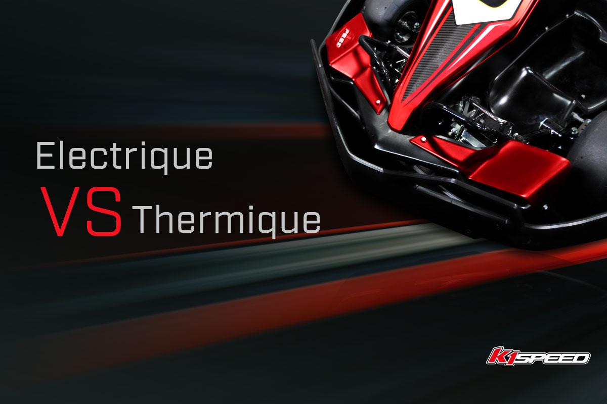 Image de différence entre karting electrique et thermique